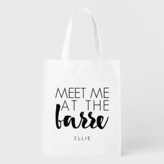 Meet Me at the Barre | Personalized Ballet Grocery Bag
