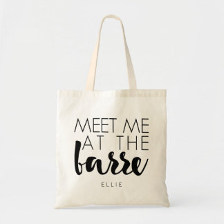 Meet Me at the Barre | Personalized Ballet Tote Bag