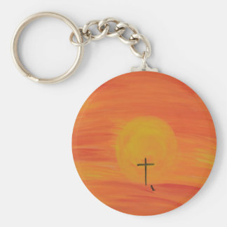 Meet Me At The Cross Basic Round Button Keychain