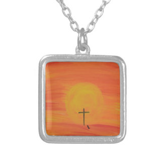 Meet Me At The Cross Silver Plated Necklace