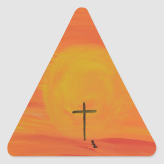 Meet Me At The Cross Triangle Sticker
