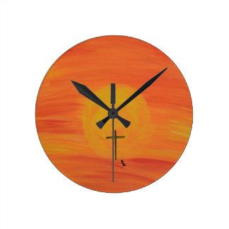 Meet Me At The Cross Wall Clock