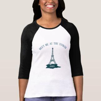 MEET ME AT THE TOWER PARIS EIFFEL TOWER T-SHIRT