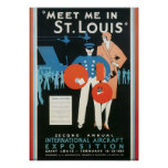 Meet Me in St. Louis Int'l Aircraft Exposition Poster
