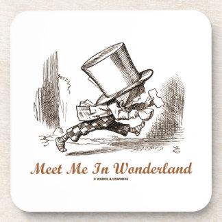 Meet Me In Wonderland (Mad Hatter Running) Coasters