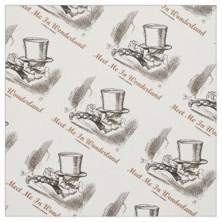 Meet Me In Wonderland Mad Hatter Running Fabric
