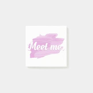 Meet Me Post-it Notes