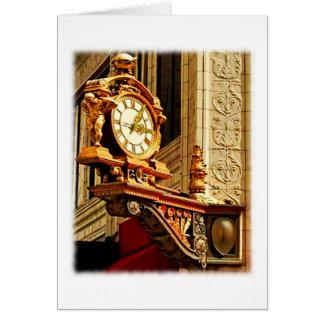 """Meet Me Under the Kaufmann's Clock"" Greeting Card"