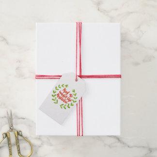 Meet me under the mistletoe - Christmas Wreath Gift Tags
