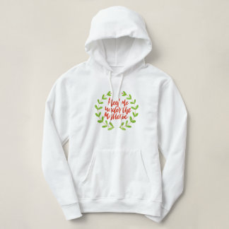 Meet me under the mistletoe - Christmas Wreath Hoodie