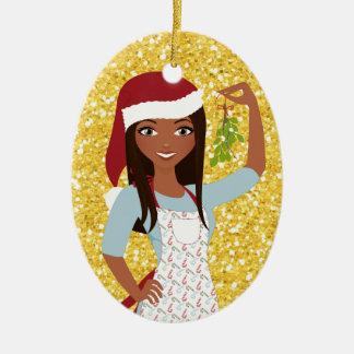 Meet Me Under the Mistletoe - SRF Ceramic Ornament