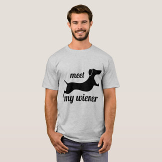 Meet my wiener - funny punny dog shirt