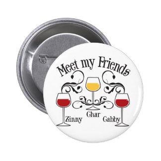 Meet my WIne Friends Pin