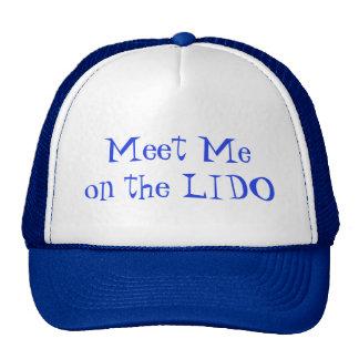 Meet on Lido Blue Text Trucker Hat