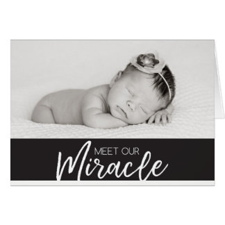 Meet Our Miracle | Baby Announcement