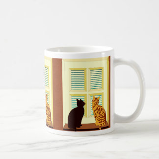 Meet the cats in window coffee mug