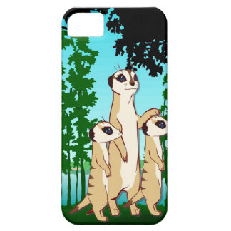 Meet the meercats, family walk in the forest iPhone 5 cover