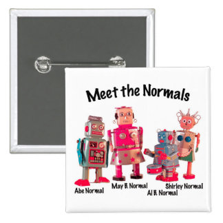 Meet the Normals 2 Inch Square Button