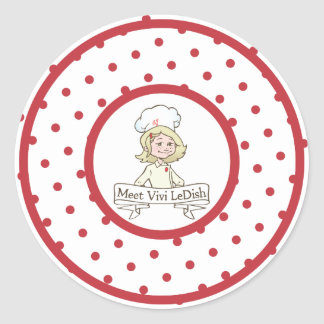 Meet Vivi LeDish Polka Dot Sticker