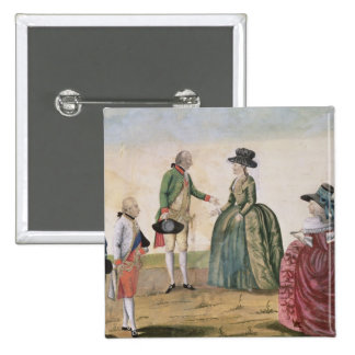 Meeting between Joseph II and Empress 2 Inch Square Button