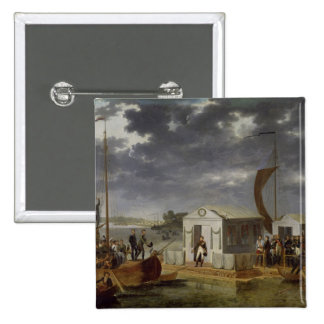 Meeting between Napoleon Bonaparte 2 Inch Square Button