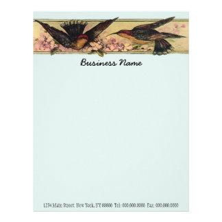 Meeting Birds ~ Business Letterhead Letter Work