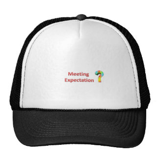 meeting expectation trucker hat