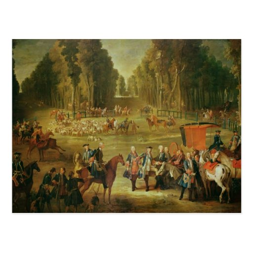 Meeting for the Puits-du-Roi Hunt at Compiegne Post Card