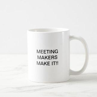 MEETING MAKERS CLASSIC WHITE COFFEE MUG