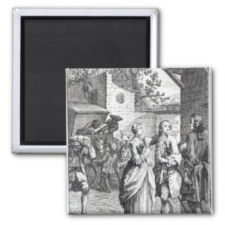 Meeting of Chevalier Des Greux and Manon Square Magnet