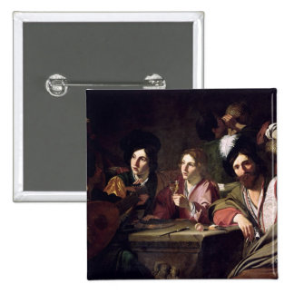 Meeting of Drinkers 2 Inch Square Button