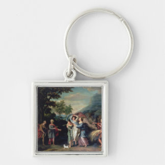 Meeting of Jacob and Laban with Rachel, Leah and S Keychain