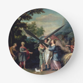 Meeting of Jacob and Laban with Rachel, Leah and S Wall Clocks