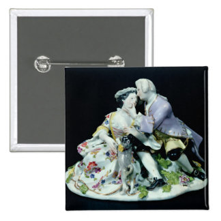 Meeting of Lovers 2 Inch Square Button