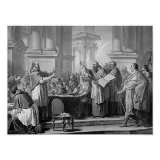 Meeting of St. Augustine and the Donatists Poster