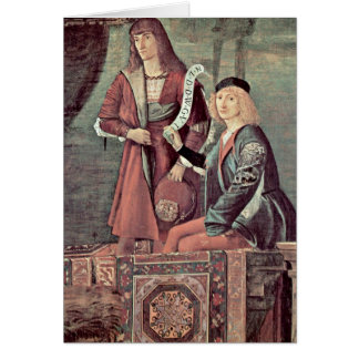 Meeting Of The Betrothed By Vittore Carpaccio Card