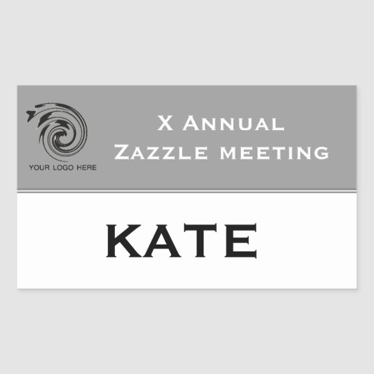 meeting or conference custom name tag sticker zazzle ca