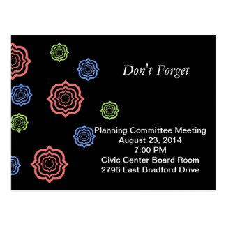 Meeting Reminder Postcard