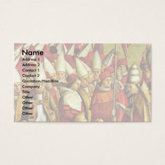 Meeting The Pilgrims With The Pope Detail By Carpa Business Card