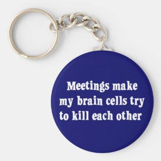 Meetings make me brain dead (2) keychain