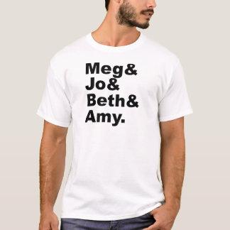 Meg & Jo & Beth & Amy   Little Women Literature T-Shirt