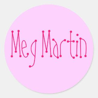 Meg Martin Round Sticker