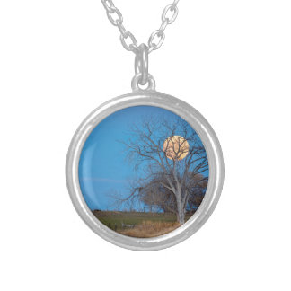 Mega Beaver Moon Silver Plated Necklace