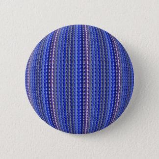 Mega Bright Colorful Purple Geometric Design 2 Inch Round Button