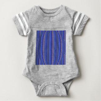 Mega Bright Colorful Purple Geometric Design Baby Bodysuit