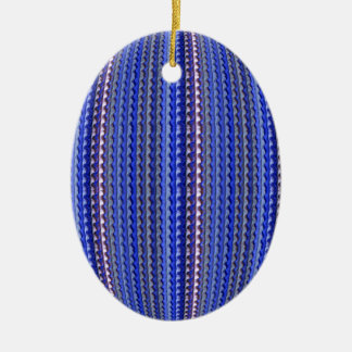 Mega Bright Colorful Purple Geometric Design Ceramic Ornament