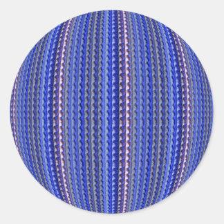 Mega Bright Colorful Purple Geometric Design Classic Round Sticker