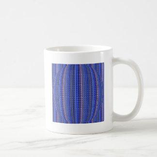 Mega Bright Colorful Purple Geometric Design Coffee Mug