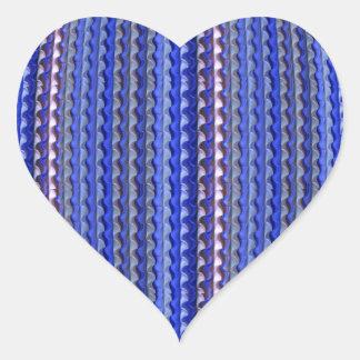 Mega Bright Colorful Purple Geometric Design Heart Sticker