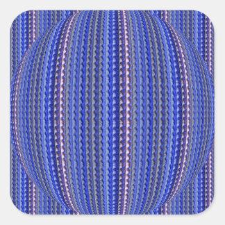 Mega Bright Colorful Purple Geometric Design Square Sticker